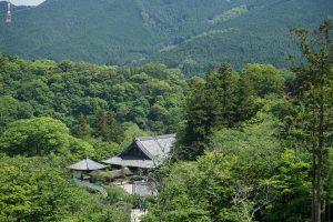 長谷寺三重塔跡からの風景