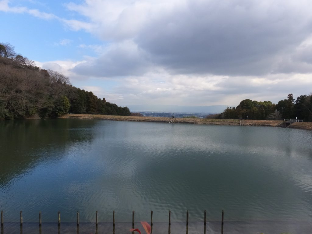 二上山麓の池