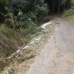 二上山登山道4雪あり