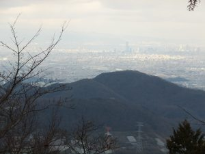 二上山雌岳から見たあべのハルカスとその周辺