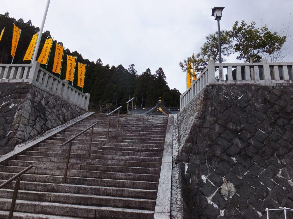 丹生川上神社上社石段