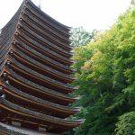 談山神社十三重塔と紅葉2