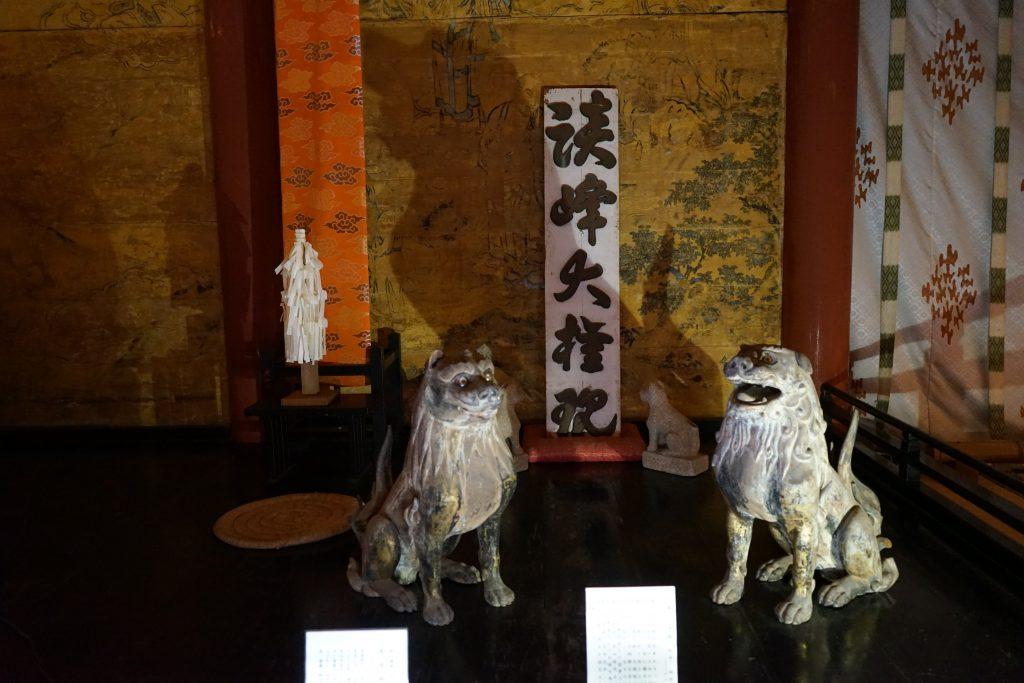 鎌倉時代の談山神社狛犬